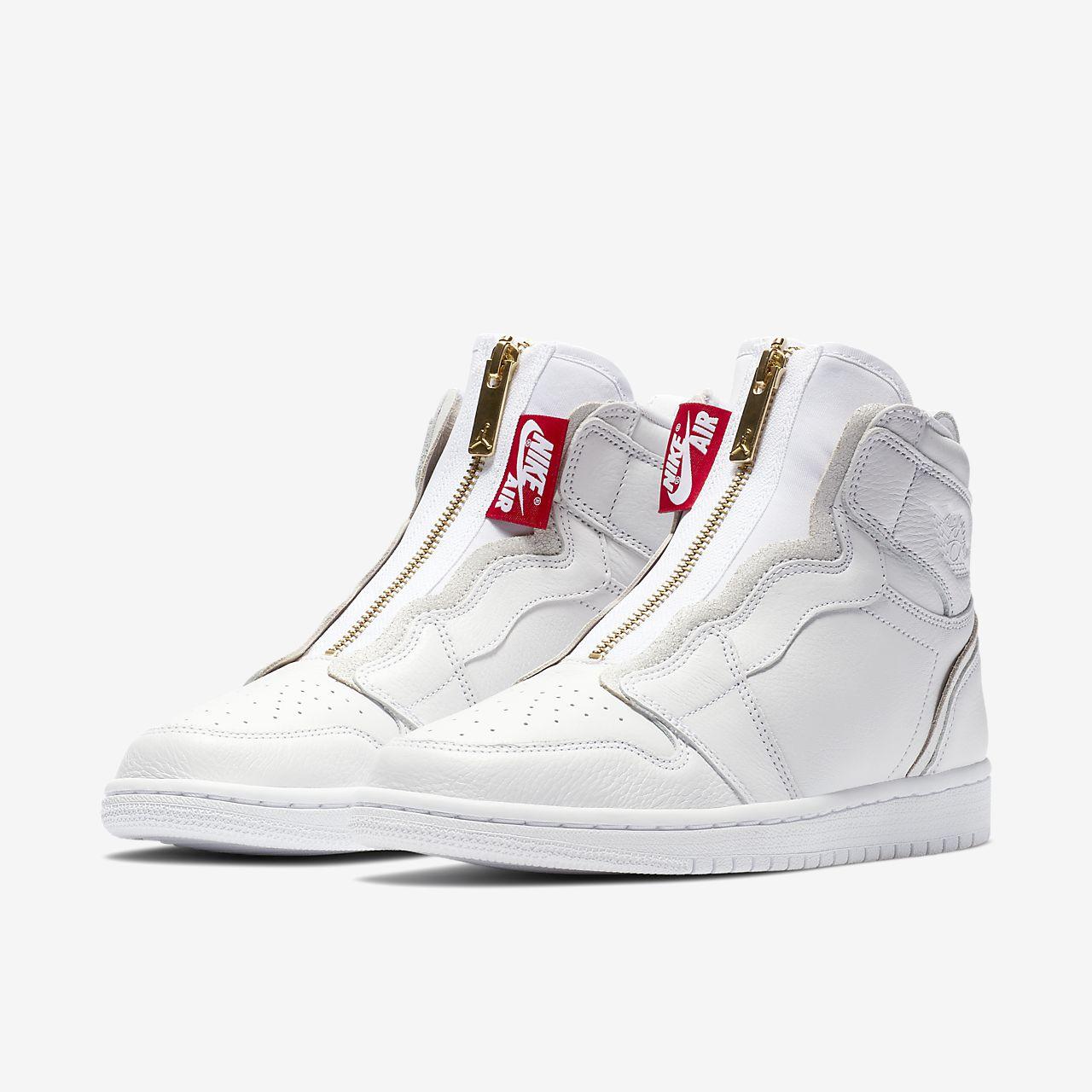 hogyan kell vásárolni kivezetés jó minőségű Nike Utcai Cipő Akció - Női Nike Air Jordan 1 Magasszárú Cipzáros ...